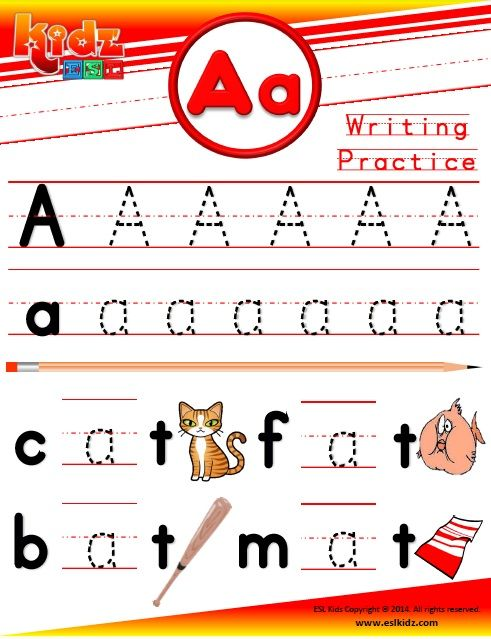 Letter A Phonics Worksheet HttpWwwEslkidzComPhonicsHtml