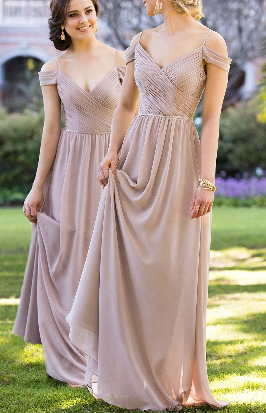 Grey Bridesmaid Dresses Long With Ruffles Floor Length Straps Online Wf02g48 840