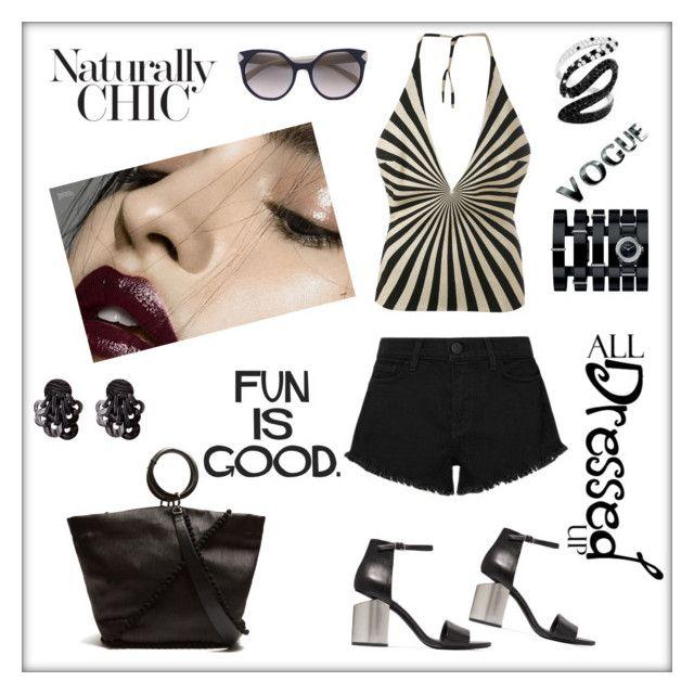 """Fun is good"" by zabead ❤ liked on Polyvore featuring Álvaro, L'Agence, Gareth Pugh, Alexander Wang, Prada, Chanel and Effy Jewelry"