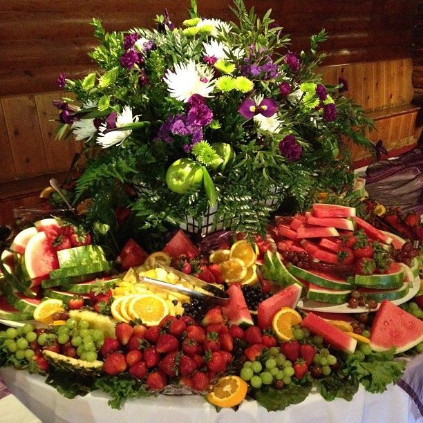 Wedding Food Tables: Wedding Fruit Table Display