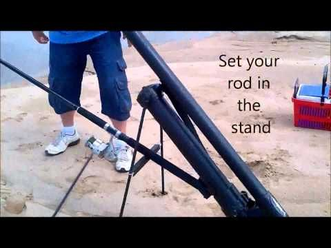 How to build a compressed air bait launcher for fishing for Fishing bait launcher