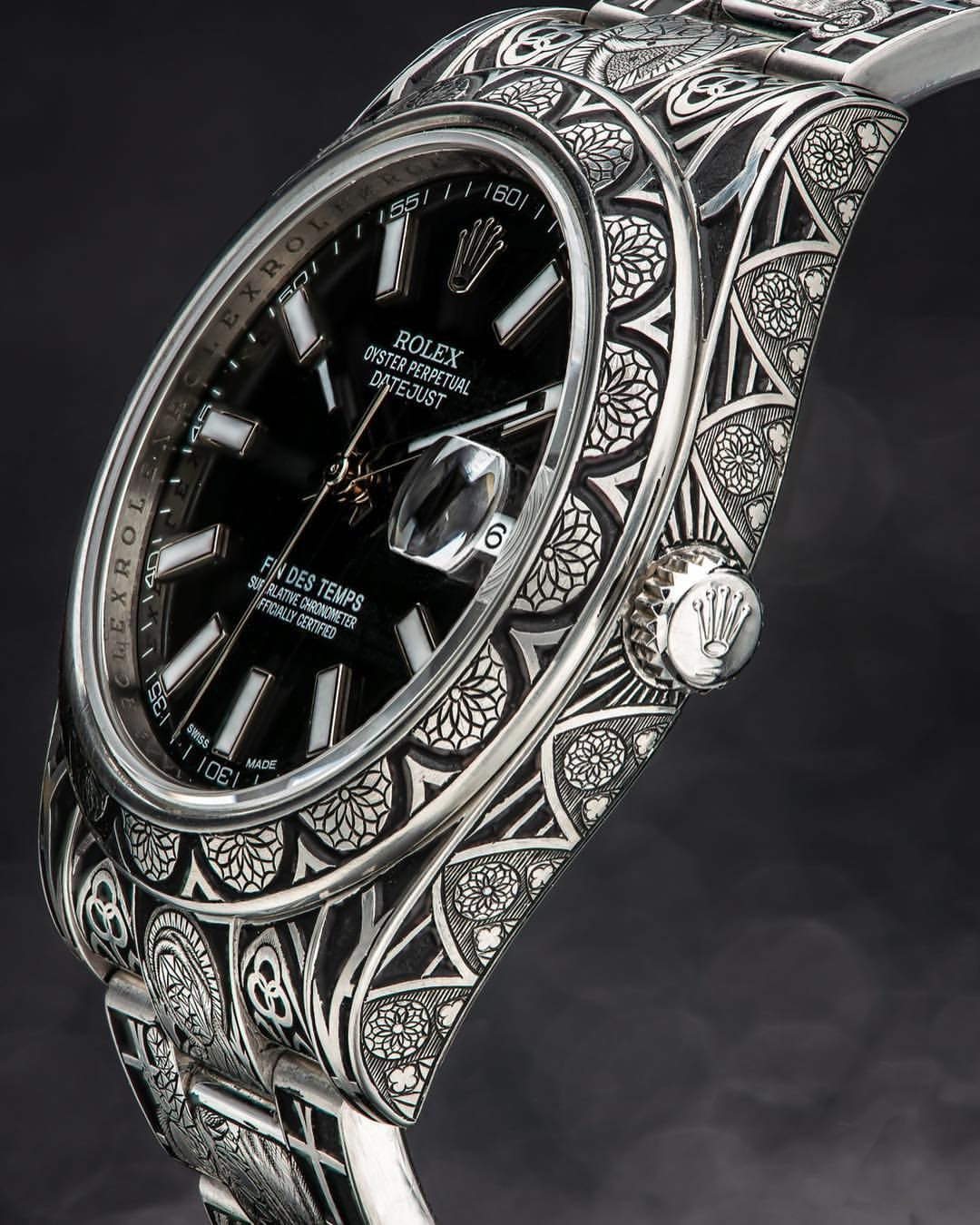 Stoked To Present To You All The Newest Findestemps Watch I Engraved The Theme For This Watch Is Inspired By Gothi Rolex Rolex Datejust Rolex Watches For Men