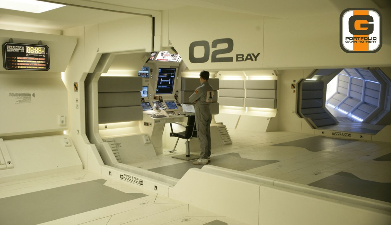 Production design for Sarang base, Moon (2009)