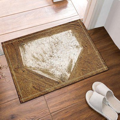 Home Plate Baseball Bathroom Shower Room Mat Bath Non Slip 40x60