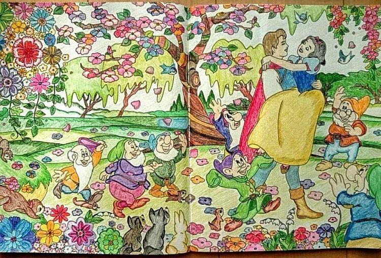 旅するディズニー塗り絵 大人の塗り絵 白雪姫 コロリアージュ