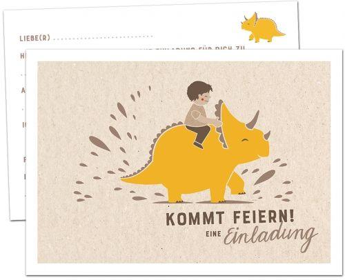 einladungskarten kindergeburtstag dino   12