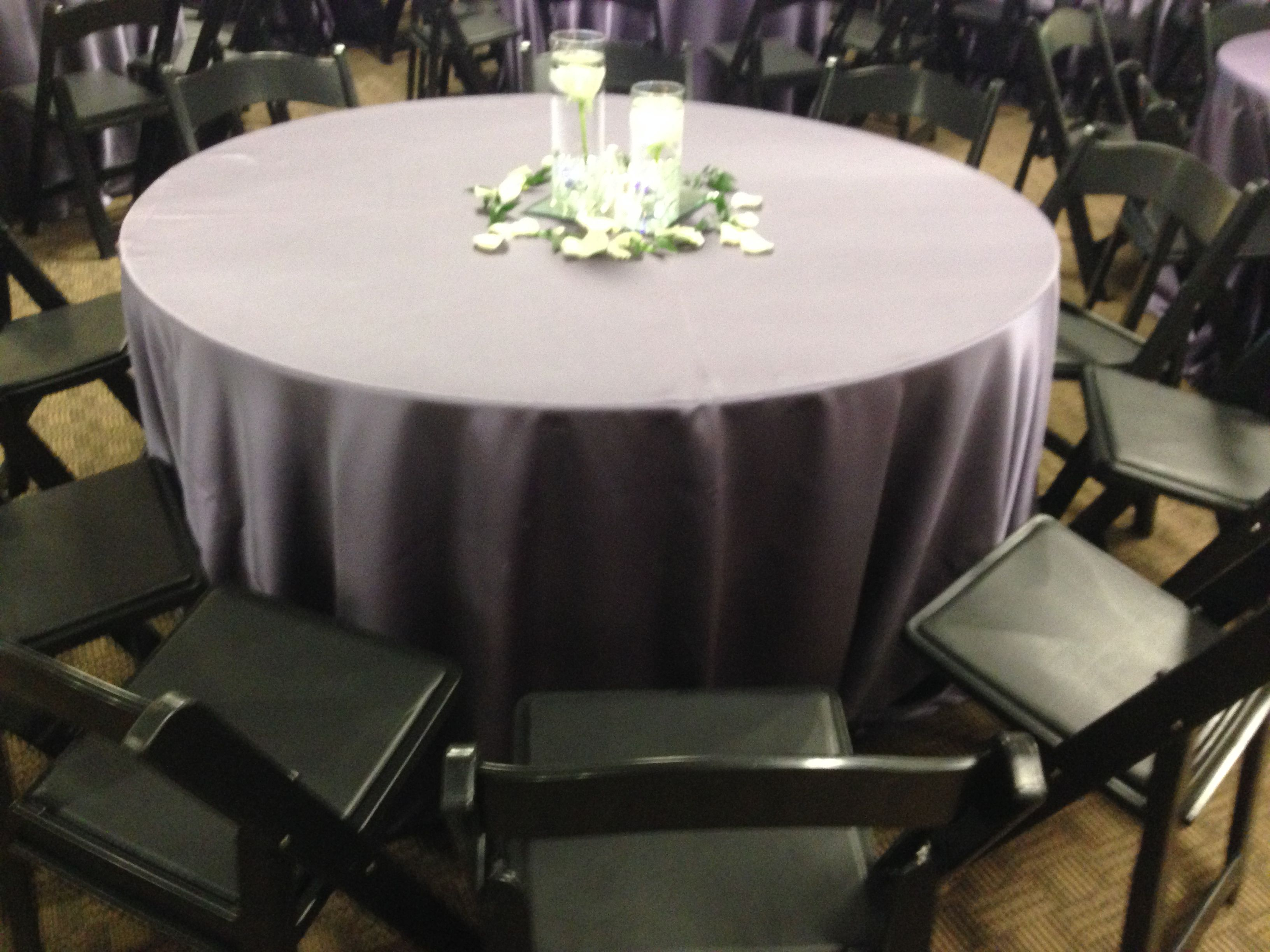 Atlanta Rental Wedding Reception Black Resin Chair Table