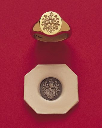 Signet Ring | Everyone needs a timeless family crest signet ring . . .
