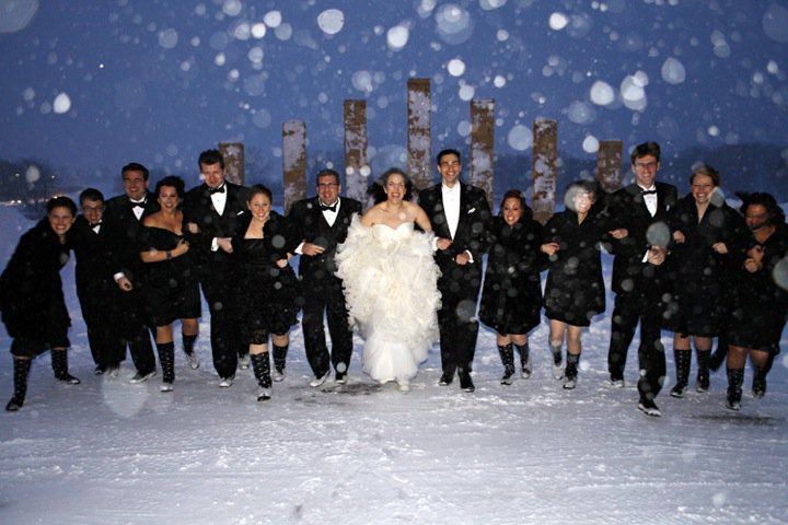 #DBBridalStyle. Cute! They look kind of cold though . . .
