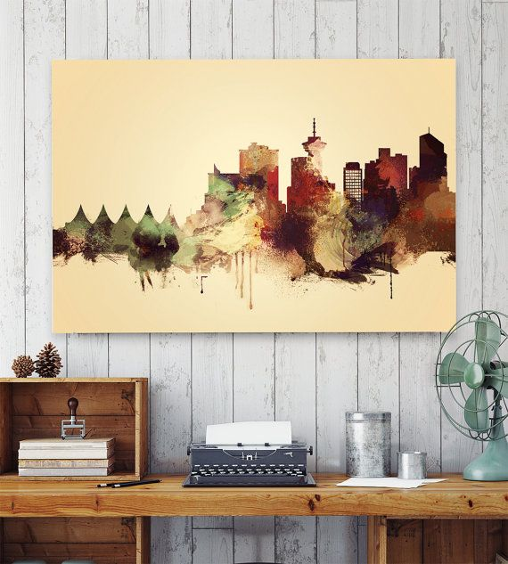 Vancouver, Vancouver wall art, print, Poster, watercolor print ...