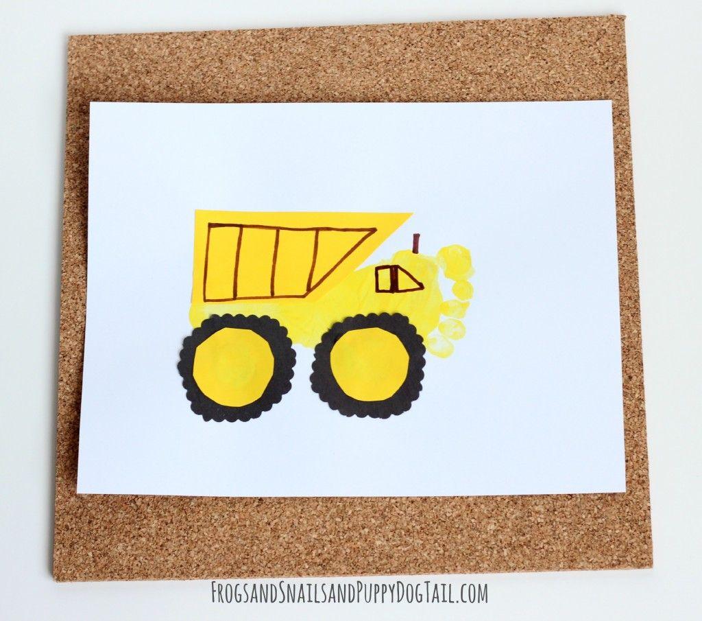 Dump Truck Footprint | Dump trucks, Footprints and Craft