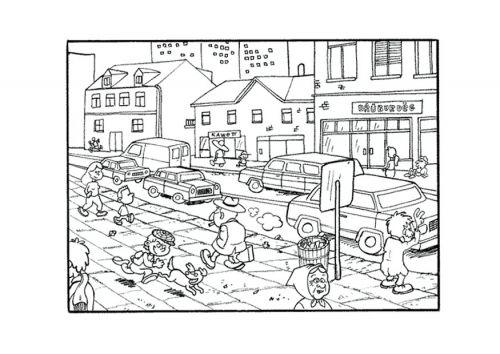 Resultado De Imagen Para Paisaje Urbano Animado Para Colorear Con