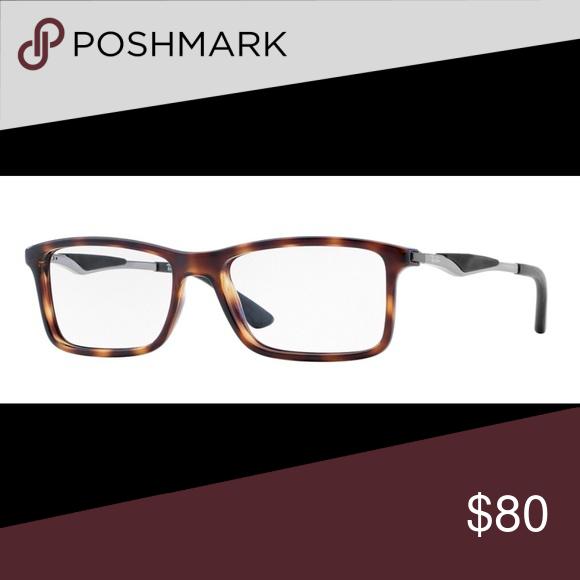 c370876702fb4 Ray-Ban Unisex RX7032 Black   Clear Lens Glasses