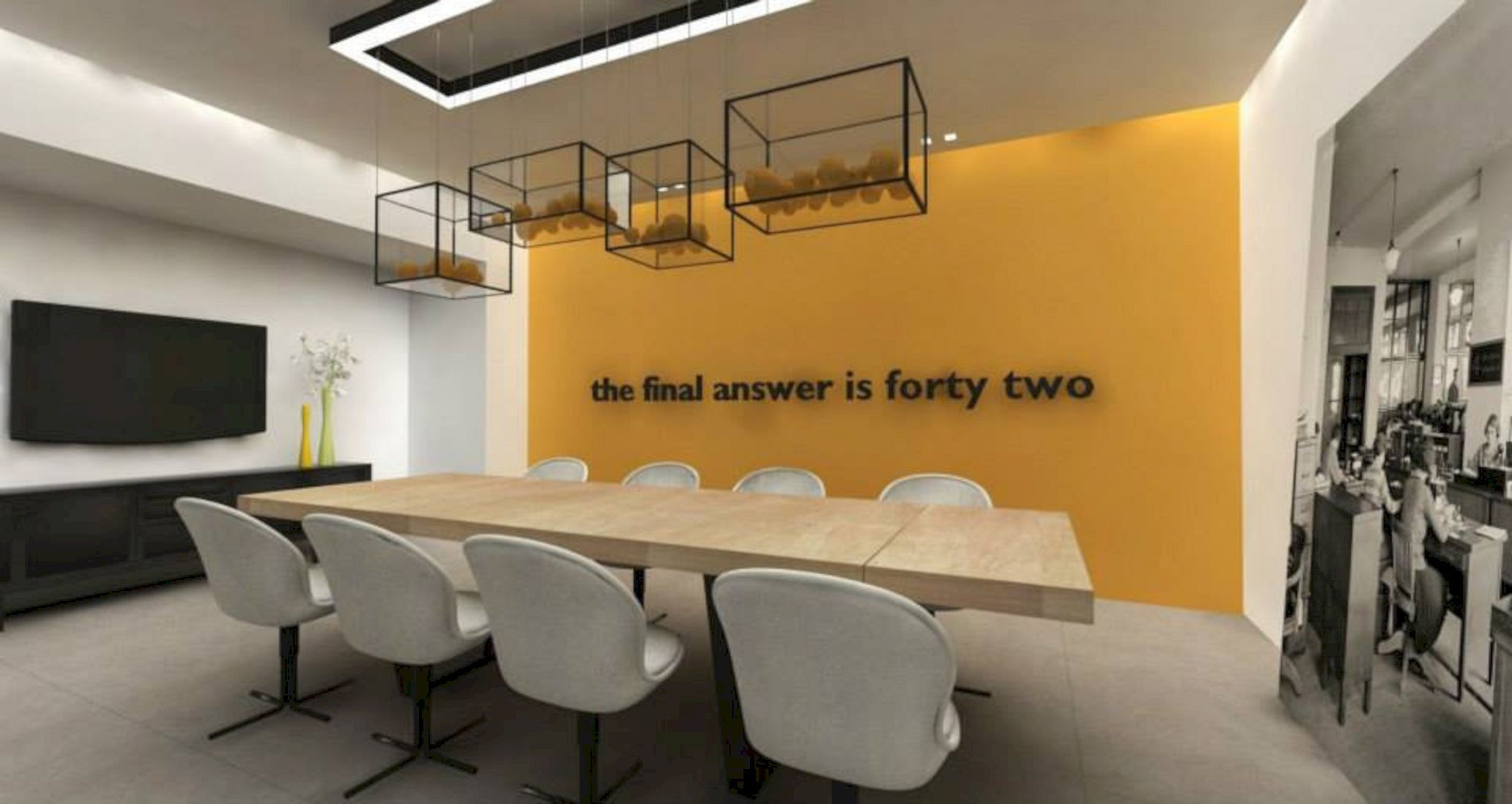 Office Interior A Contemporary Modern Workspace Of The Design