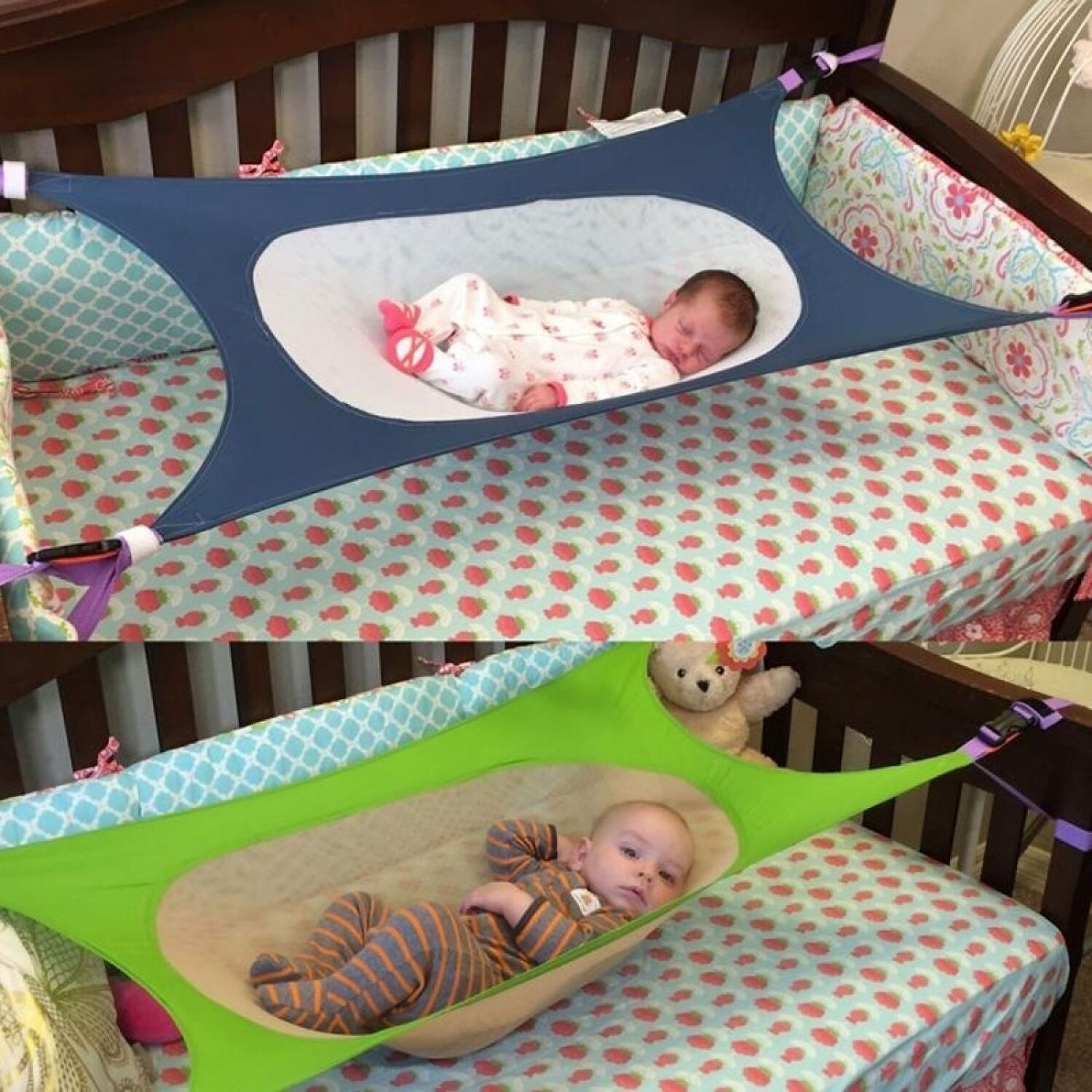 Details About Baby Bed Hammock Elastic Detachable Crib