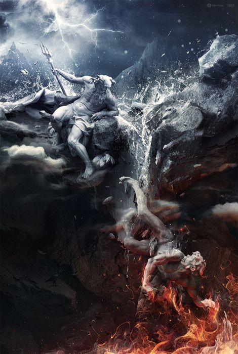 Poseidon loses his son to Hades