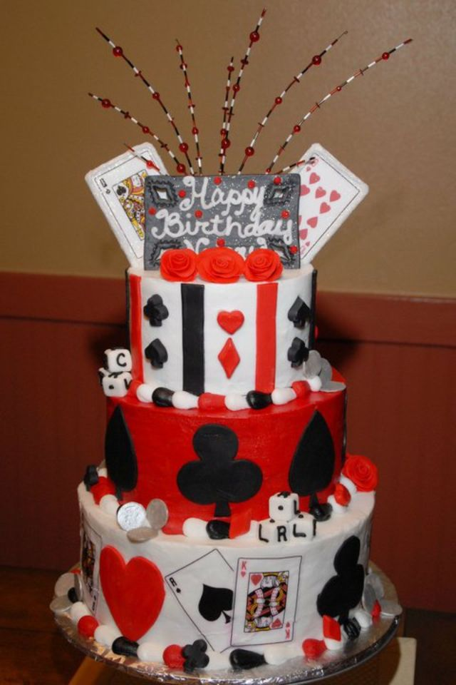 Casino Cake Playing Cards Birthday Cake For My Sweet Mother In Law