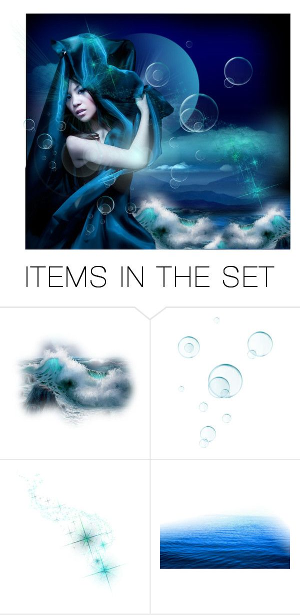 """In a Blue Midnight"" by vanaynayreed ❤ liked on Polyvore featuring art"