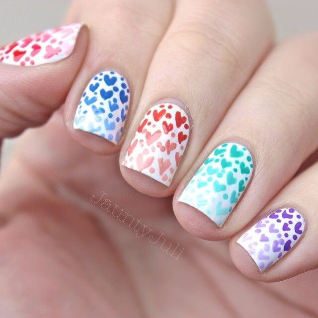Easy Valentine\'s Day Nail Art Ideas | Nail nail, Easy and Art nails
