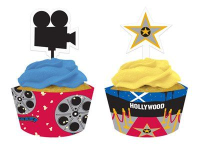 Muffin Deko Set Hollywood Kino Film Hollywood Party Kino