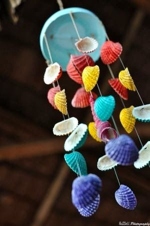 Gallery For > Homemade Wind Chimes With Shells