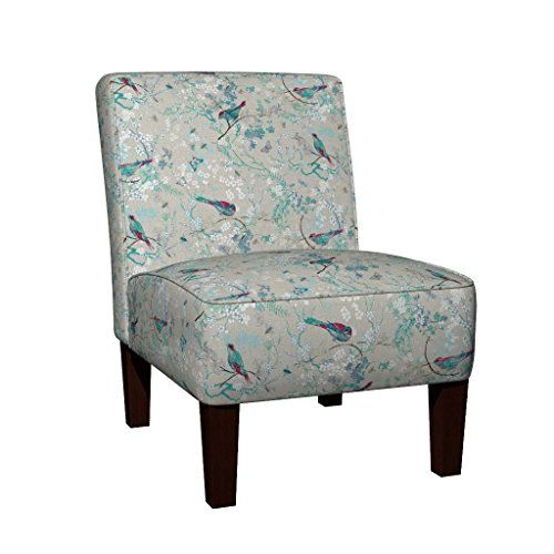 Roostery Maran Slipper Armless Accent Chair   Chinoiserie.