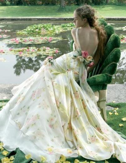 Embroidery Flower Jill Stuart Wedding Dresses