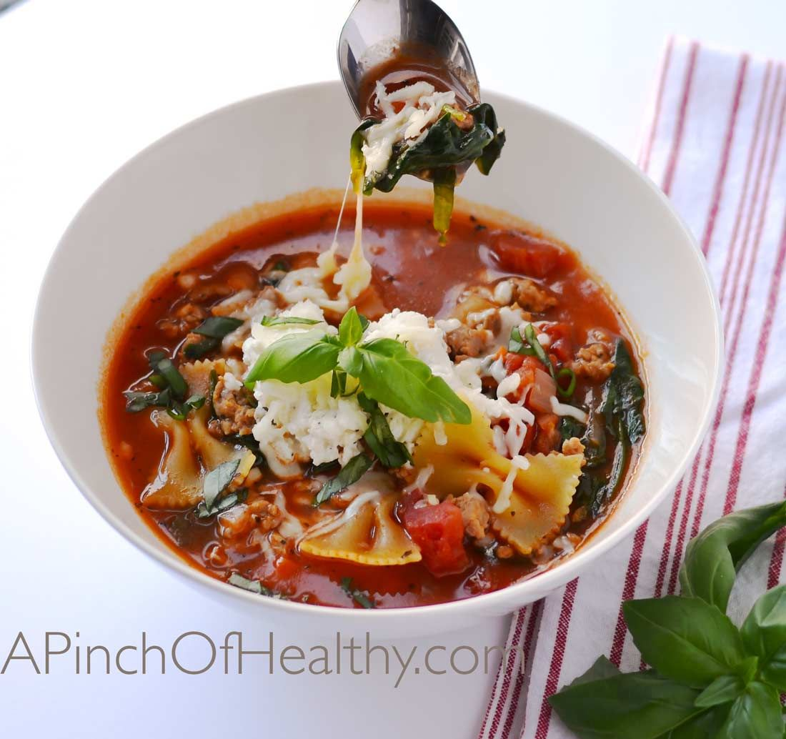 Healthy lasagna soup instant pot or stovetop recipe