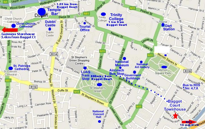 Location Map For Baggot Court Dublin Ireland Dublin restaurants