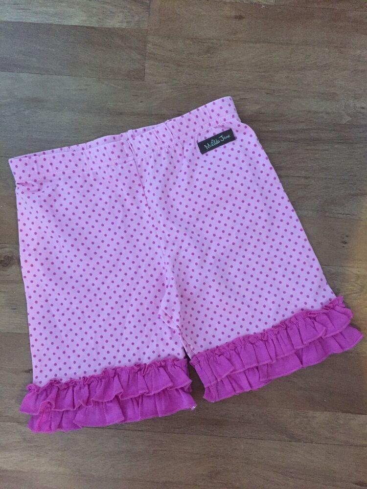 Matilda Jane GIRLS Pink CAPTURE THE FLAG Shorties Poolside sz 2 4 Pockets