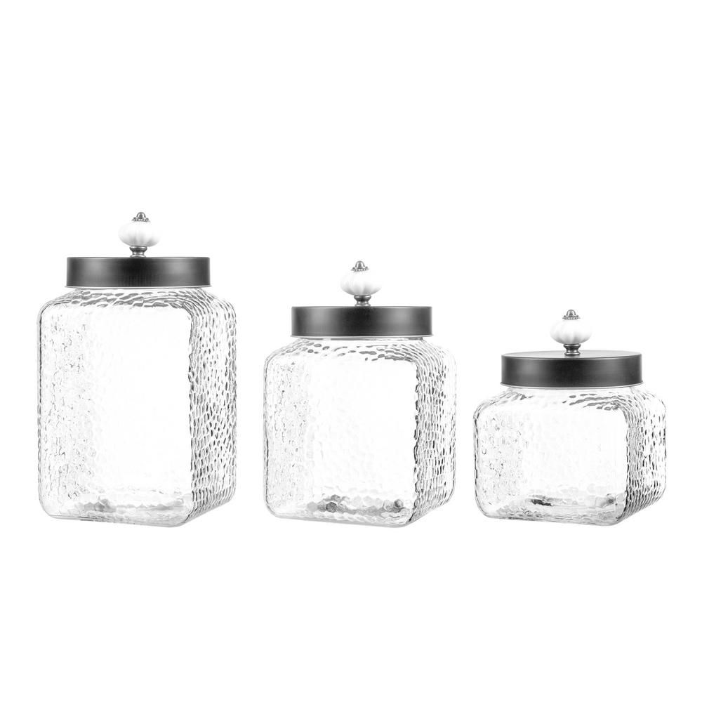 square kitchen canisters style setter hammered square canisters set of 3 clear canister sets ceramic canister set 7943