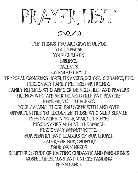 picture regarding Printable Prayers titled Printable Prayer Listing // try to remember anything and everybody