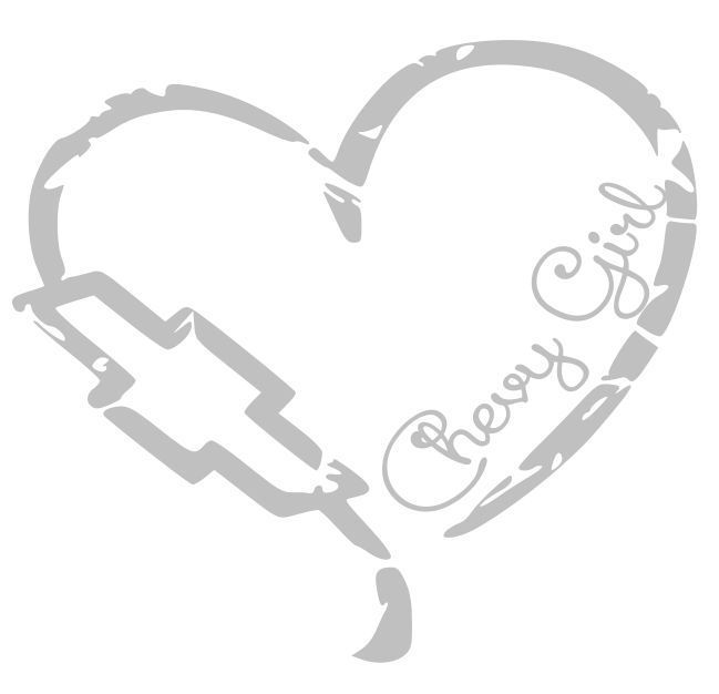 Chevy Girl Heart Decal Sticker Pickup Truck Lifted Chick
