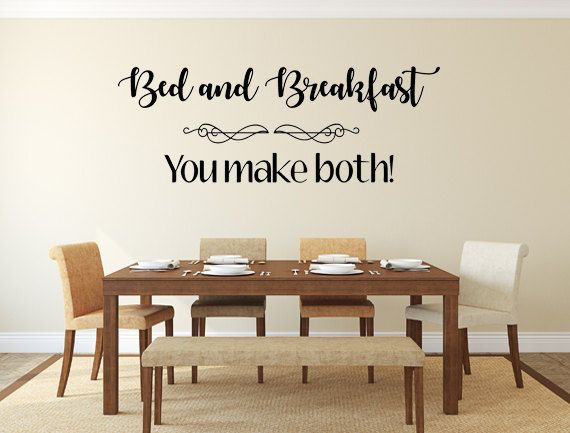 Check out Bed & Breakfast Vinyl Decal Wall Decal Custom Wall Custom ...
