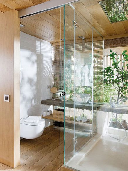 Transparante slaapkamer van loft in Barcelona Homebathrooms - Bathroom Glass