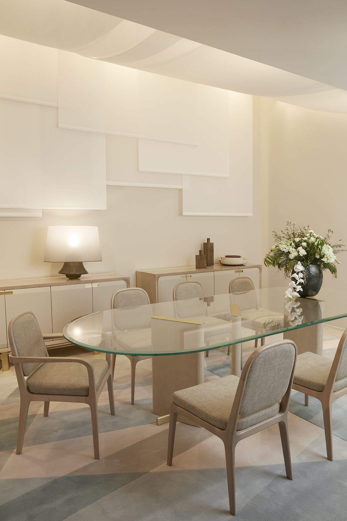 Roche Bobois Paris Paname Collection Designed By Bruno Moinard Oval Table Dining Dining Table Glass Dining Table