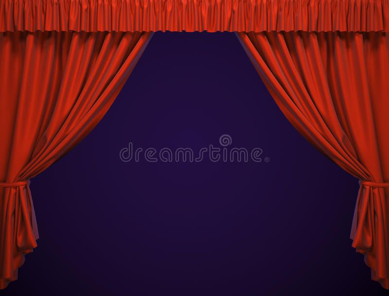 Theater Curtain A Presentation Movies Spon Curtain