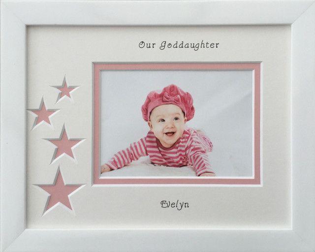 Triple scan baby boy personalised photo frame 20 x 8 white - Azana ...