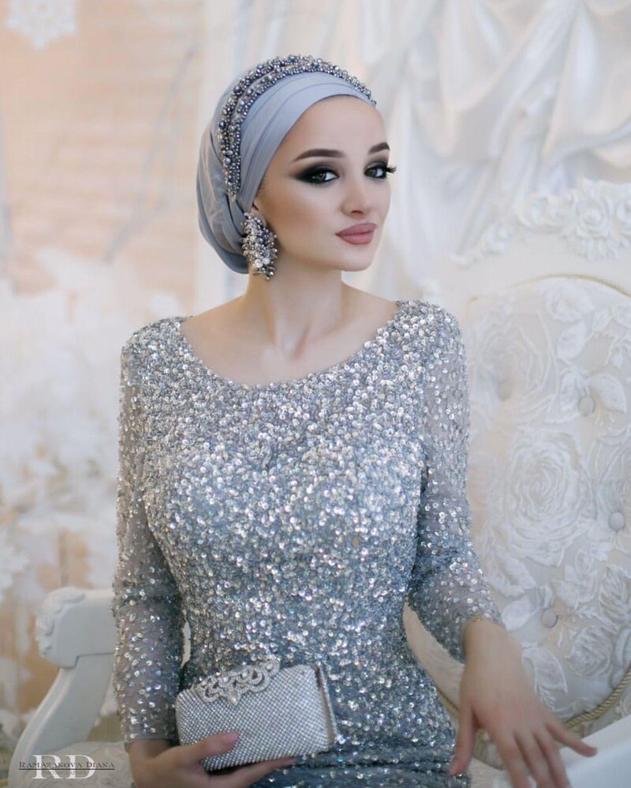 Pinterest @adarkurdish Hijab Style, Turban Style, Bridal Hijab, Modest  Fashion,