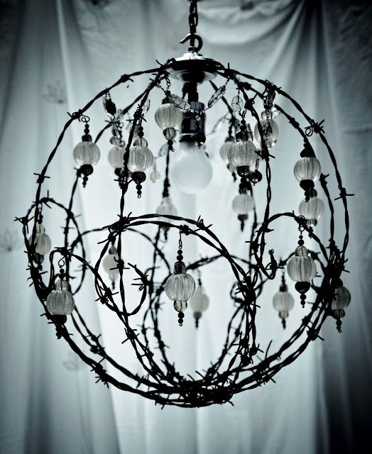 barbwire chandelier | BARBED | Pinterest | Chandeliers, Wire art and ...