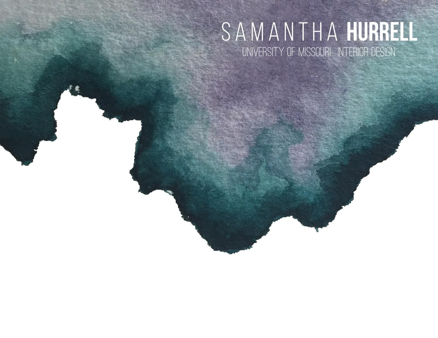 Samantha Hurrell 2015 Interior Design Portfolio Print Collateral