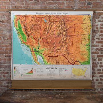 Old School Maps 1960s Southwestern U S Map