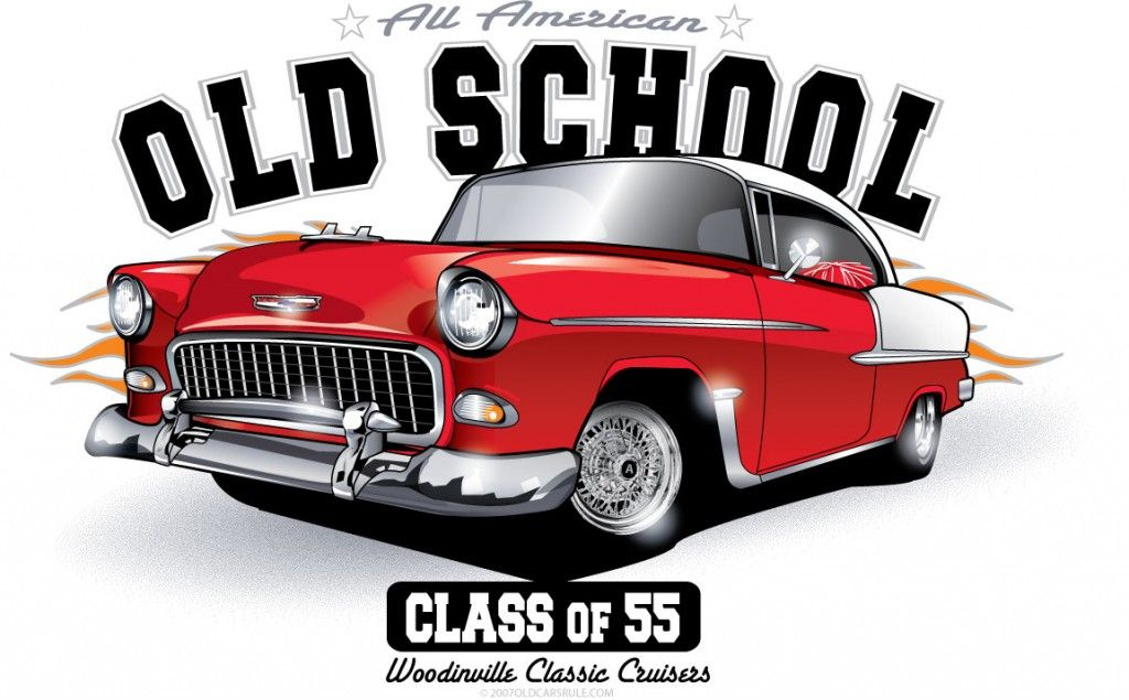 Car Paintings Of The 50 60s Old School Chevy Gm 50 S 60 S