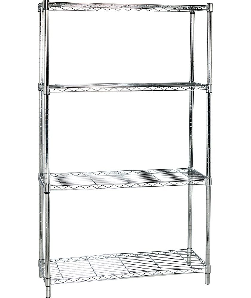 Buy Argos Home Heavy Duty 4 Tier Metal Shelving Unit Chrome Bookcases And Shelving Argos Metal Shelves Metal Shelving Units Metal Bookcase