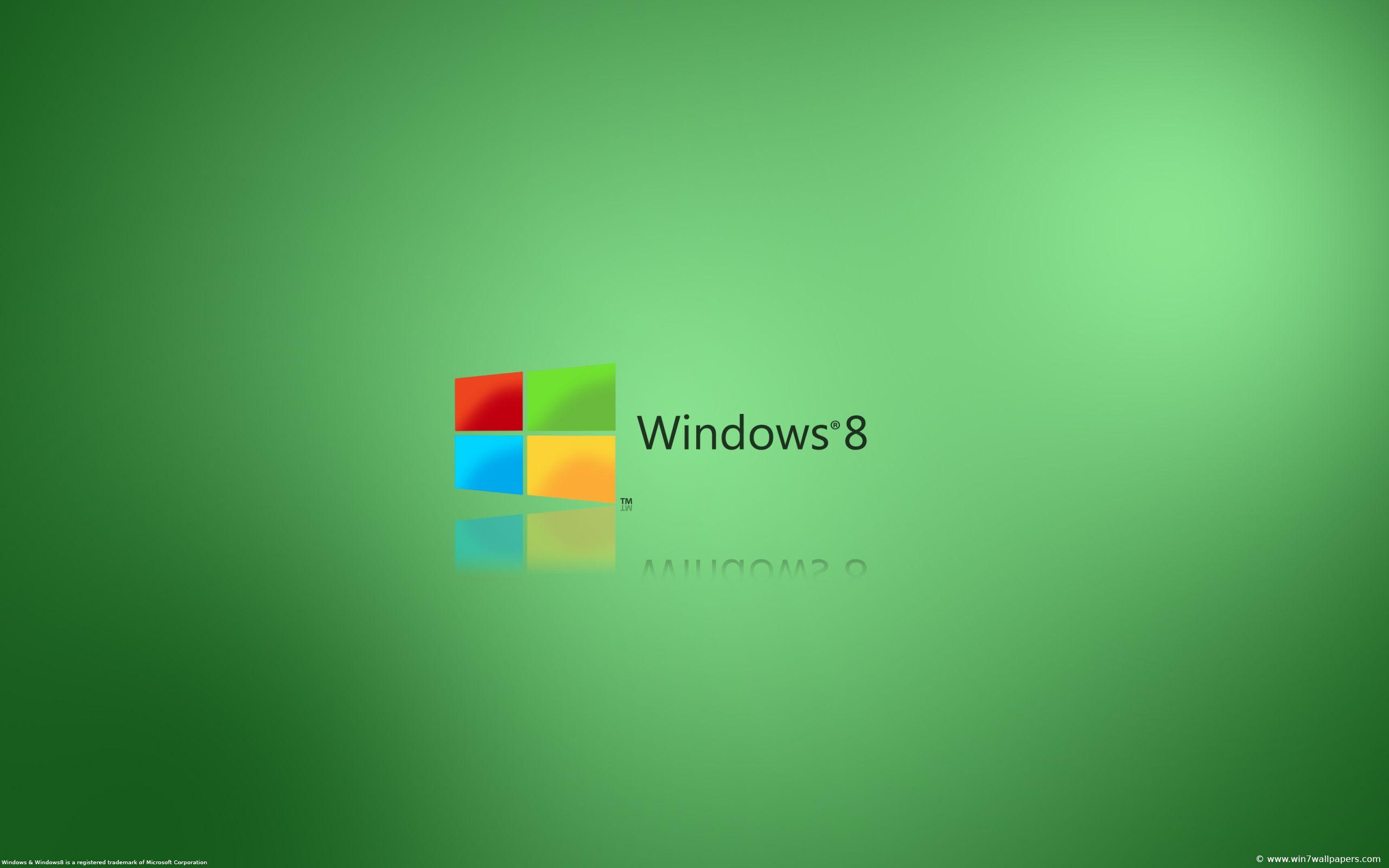 Simple Windows 8 Desktop Background Hdpicorner Windows 8 green brand logo wallpapers hd