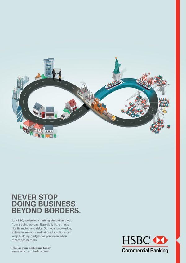 HSBC ad campaigns by Jing Zhang, via Behance   Arts & Designs I Like