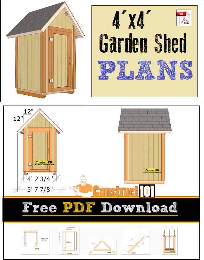 Small Shed Plans Pdf 4x4