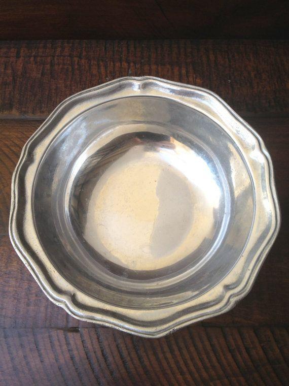 Vintage Wilton USA Pewter Bowl Queen Anne