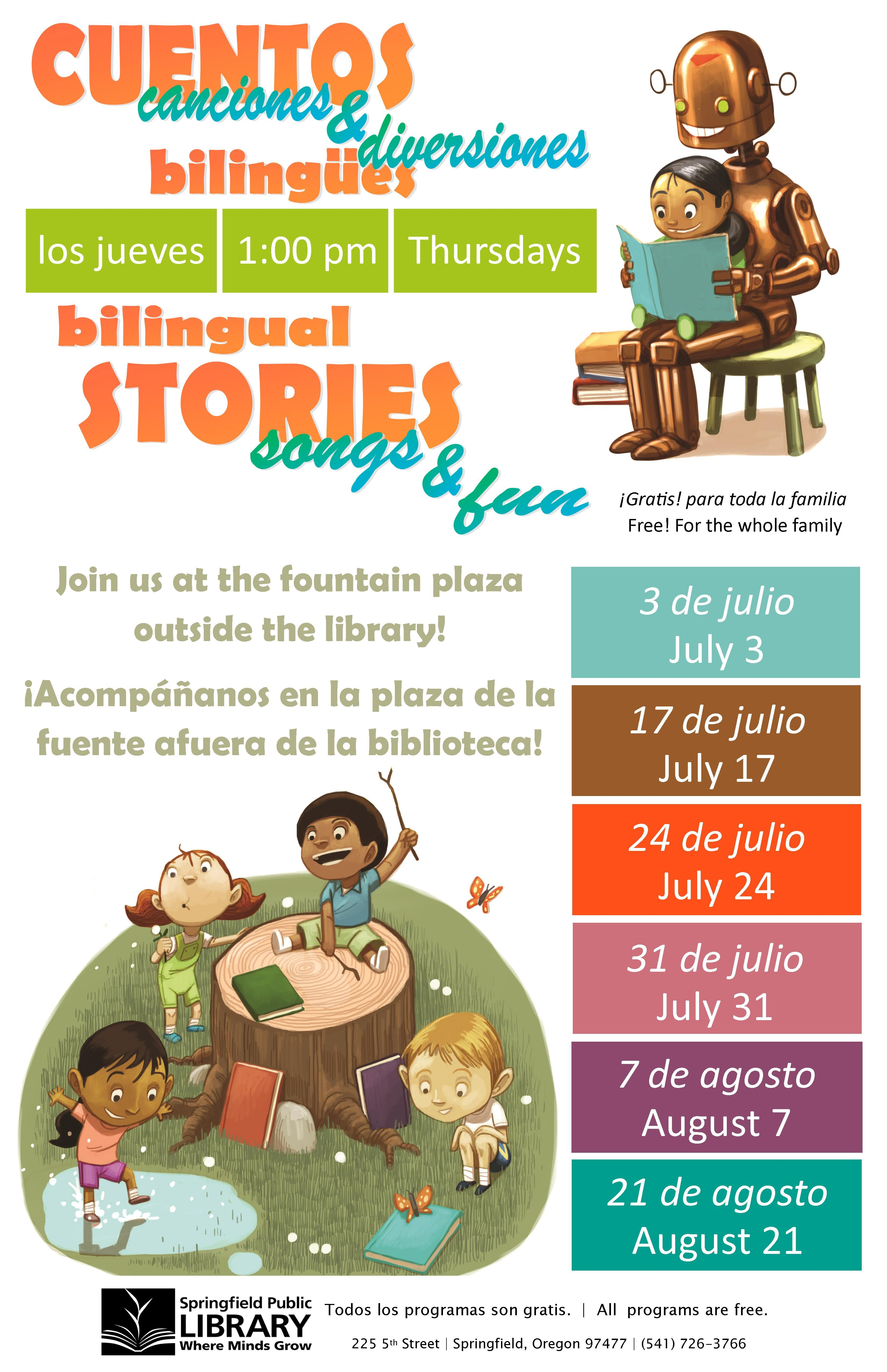 Summer Reading Storytimes - Springfield Public Library