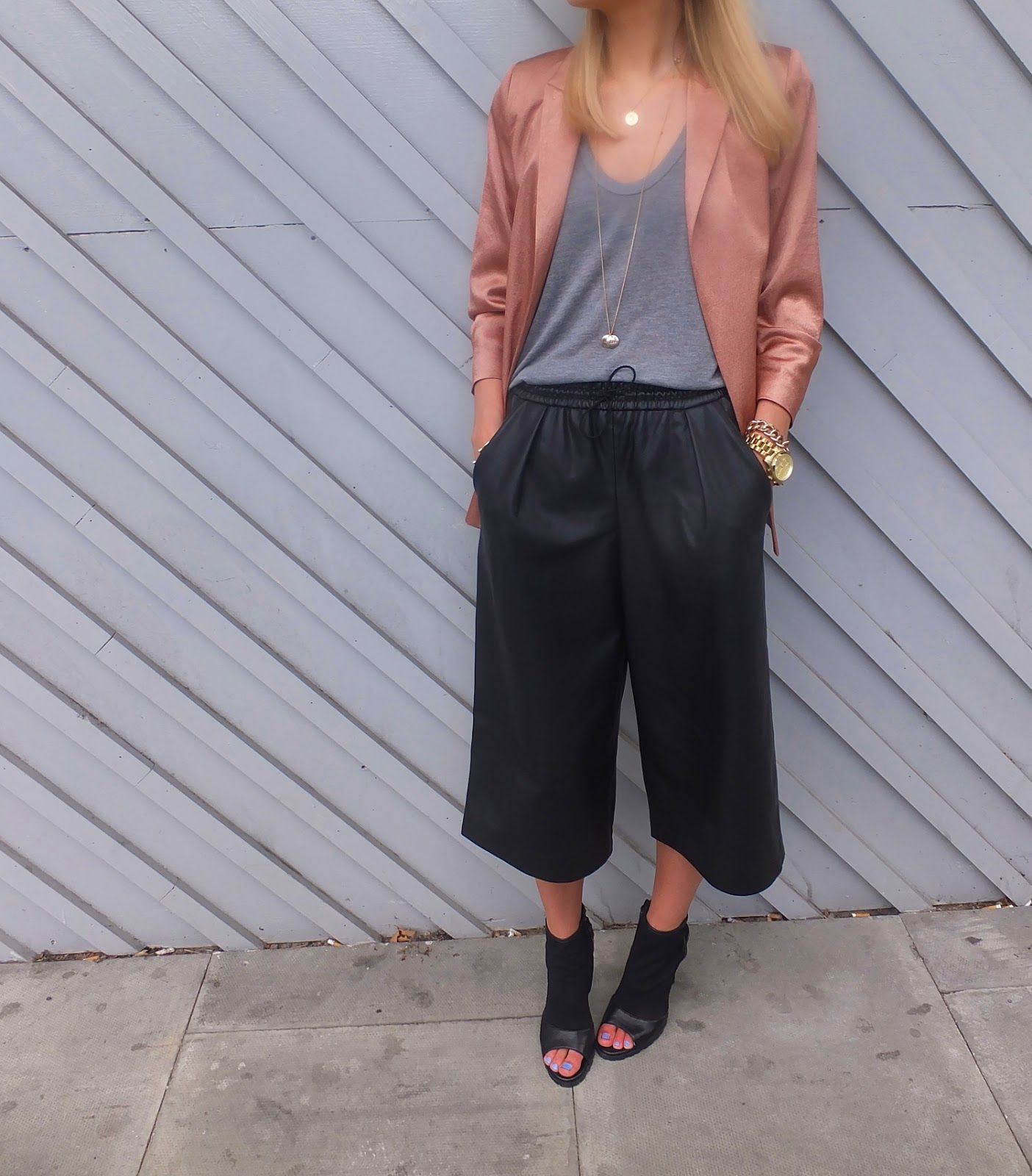 zara leather culottes - szukaj w google | fashion | pinterest